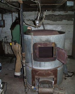 Inspiration pic - scary furnace. Can we put a small voice recording coming from inside at the mill?!