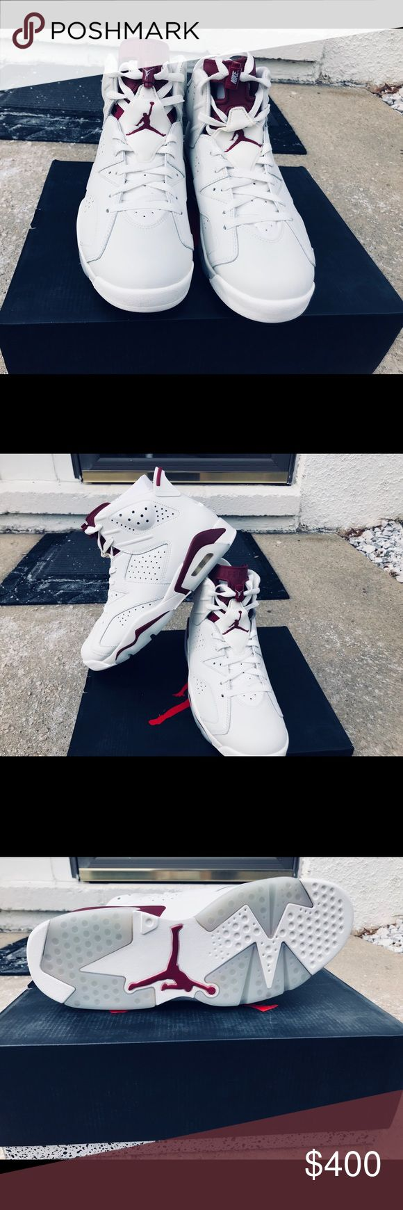 Jordan Retro 6's Air Jordan Retro 6's                                                       ColorWay: Maroon, Off-White Condition: NEW Size: 12 Price: 400$ or Best Offer Air Jordan Shoes Athletic Shoes