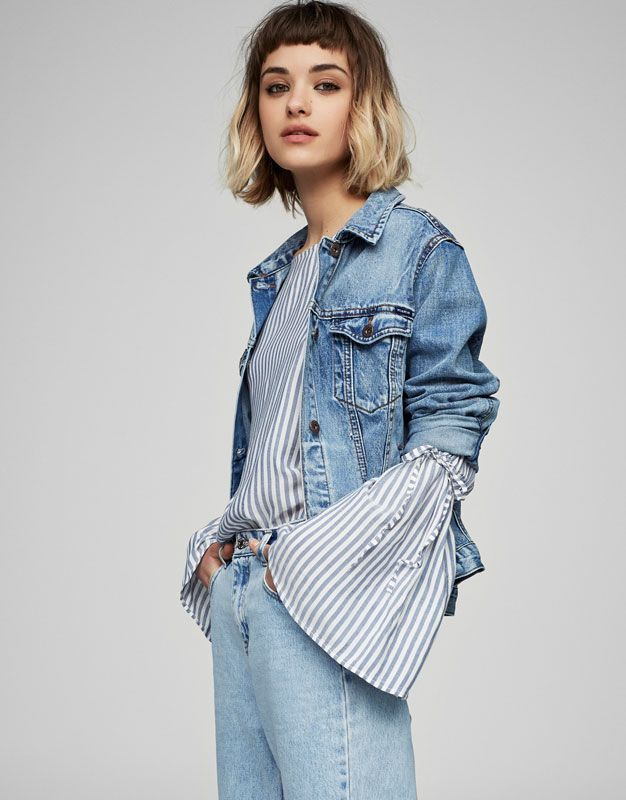 Belled sleeve shirt - New - Woman - PULL&BEAR United Kingdom