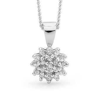 Silver Dress Pendant with Cubic Zirconia - BEE-35434-CZ