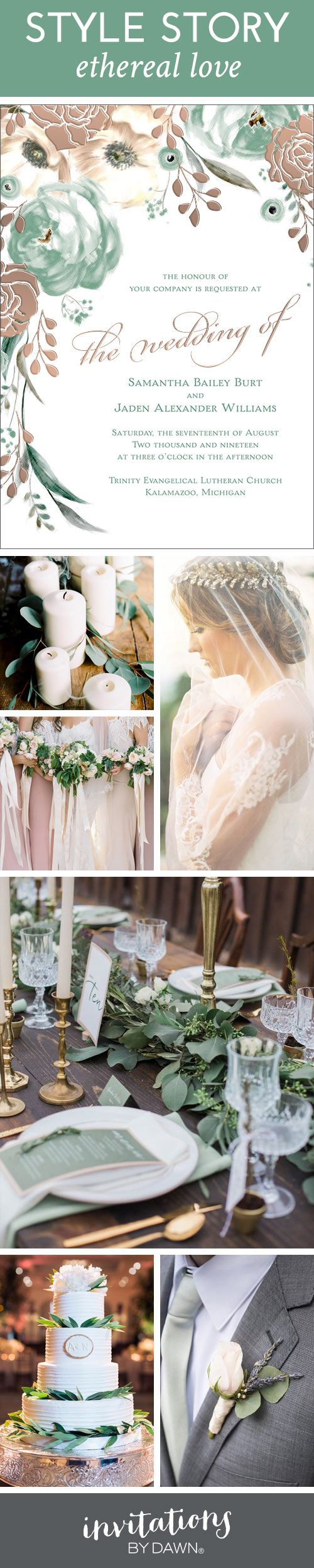 """How would you define ethereal? One dictionary defined it as """"extremely delicate and light in a way that seems too perfect for this world.' We started imagining what that might mean as a wedding style, and now we're sharing our vision with you"""