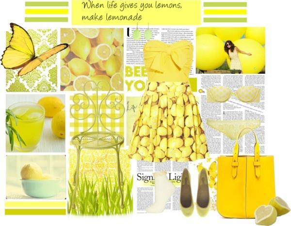 """""""Summer Lemonade"""" by kikusek ❤ liked on Polyvore"""