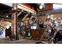 inside the Timpanogos Harley Store in Linden Utah.... it's awesome!
