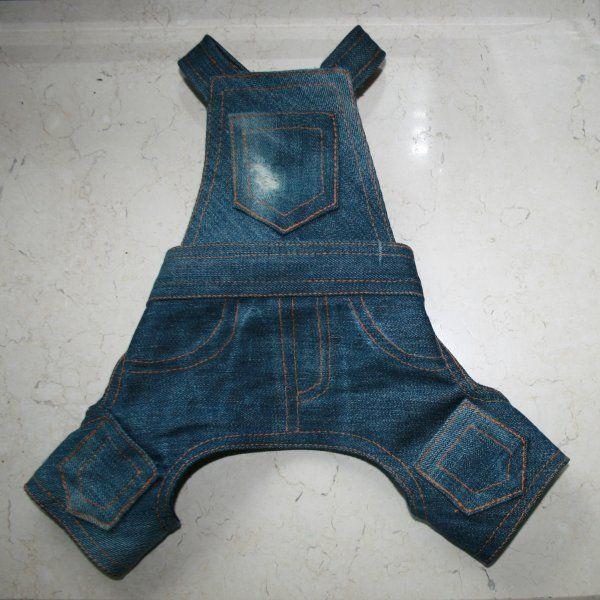 Выкройка штанов для собаки. Dog Jeans - free pattern
