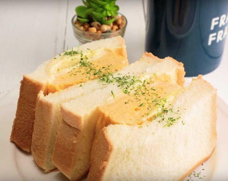 まるで専門店のような仕上がり♩「ふわふわ卵焼きサンド」の作り方 - macaroni