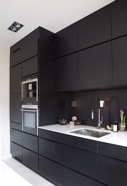 Sleek look cabinets