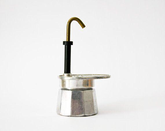Vintage Italian Coffe Maker Mini express Stovetop by ilivevintage, $30.00
