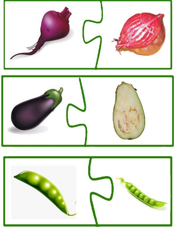 Овощи и фрукты. Пазлы. - Babyblog.ru