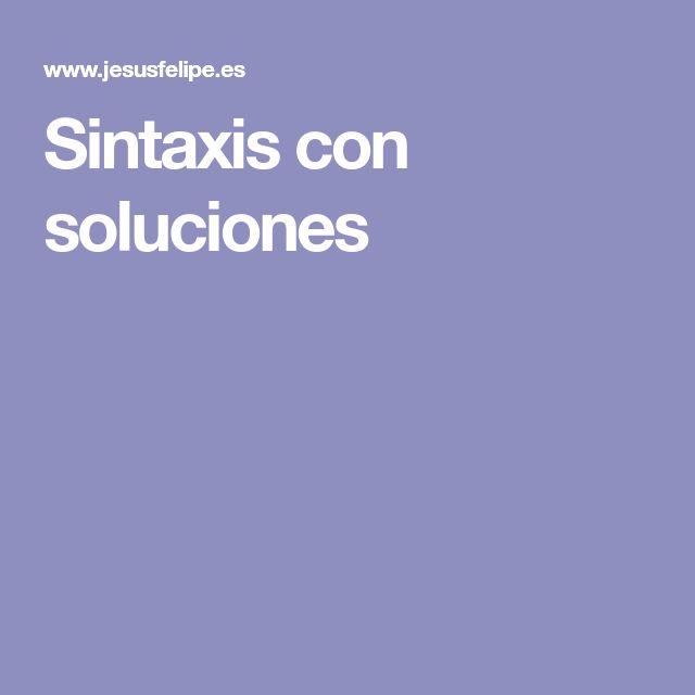 Sintaxis con soluciones