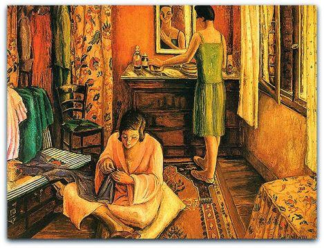 La Rentrée - Interior (1925-27) de Anita Malfatti Col. Roberto Pinto de Souza, SP Col. Jenner Augusto Silveira, BA óleo s/ tela (73,3x60,2) óleo s/ tela (80x65) http://sergiozeiger.tumblr.com/post/104172825793/anita-malfatti-anita-catarina-malfatti-sao Em 1923, Anita conquista finalmente a bolsa do Pensionato Artístico do Estado - que não havia conseguido com a exposição de 1914 - e segue para Paris, onde permanece por cinco anos.