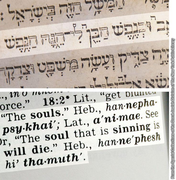 Ezequiel 18:4 en la Biblia hebrea de Hutter y la nota a pie de página de la Traducción del Nuevo Mundo de las Santas Escrituras (con referencias)