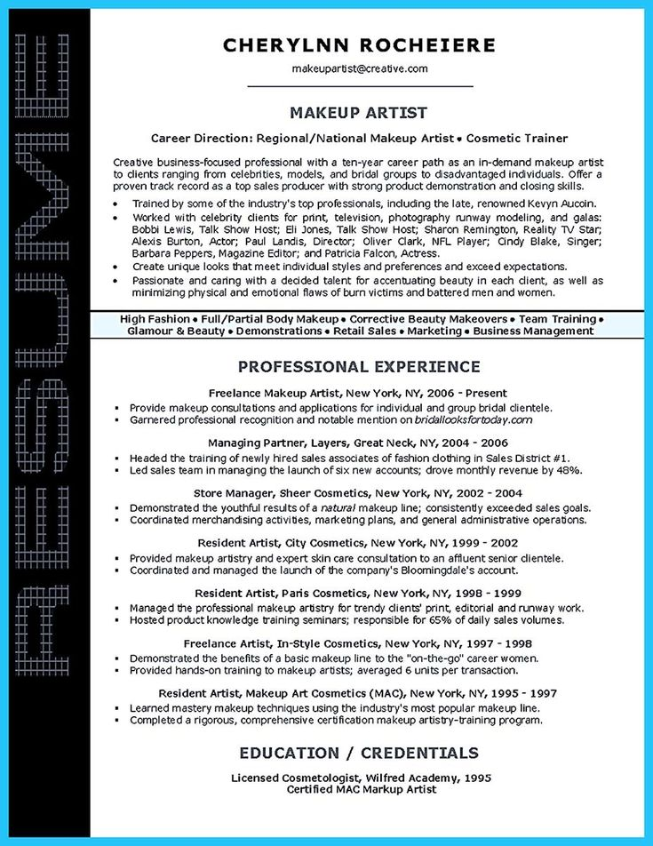 cool artist resume template that look professionalhttpsnefciorg - Artist Resume Sample