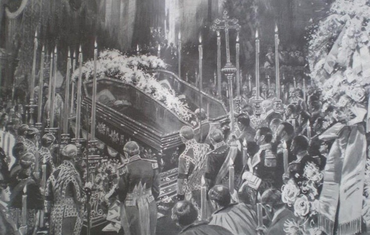 Funerals of King Carlos I of Portugal and Crown Prince Luis Felipe. Feb 1908