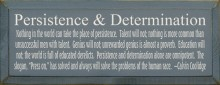 Persistence & Determination - Calvin Coolidge Quote