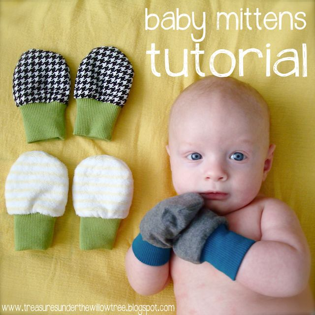 Tutorial- Baby Mittens :: Mom, will you make these for S?