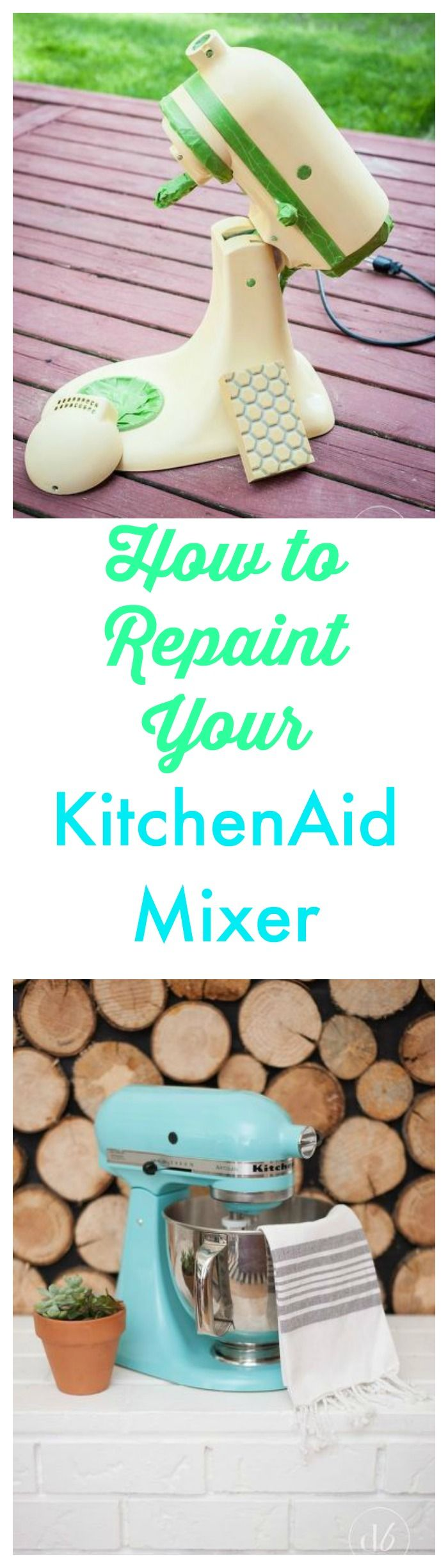 How to repaint your KitchenAid Mixer and get great results. http://www.hometalk.com/l/EJq