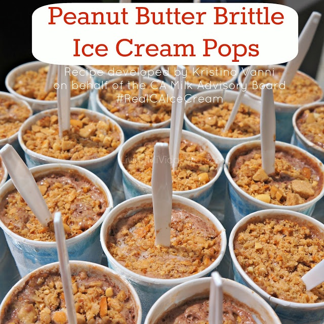 Peanut Butter Brittle Ice Cream Pops Recipe | Ice Cream Pops, Peanut ...