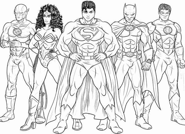 Justice League Coloring Page Elegant Kids Drawing Of Justice League Coloring Page Netart Avengers Coloring Pages Avengers Coloring Superhero Coloring