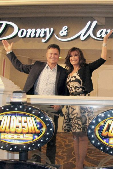 Donny Osmond and Marie Osmond celebrate the renaming of their showroom at Flamingo Las Vegas to the 'Donny & Marie Showroom' in Las Vegas.