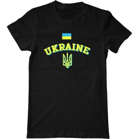футболка с гербом украины, флагом украины и надписью UKRAINE украина заказать футболки, майки, толстовки с патриотическими надписями, украинской тематики, национальной тематики