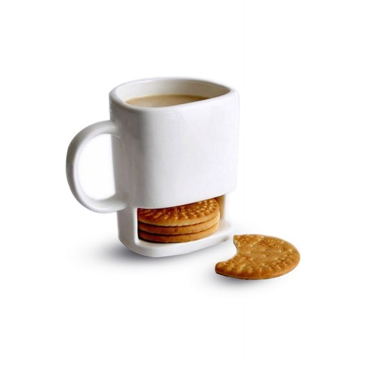 Awesome Unique Coffee Mugs Online Part - 4: Dunk Mug - Ceramic Cookies Mug With Biscuit Holder *** Find Out More  Details By Clicking The Image