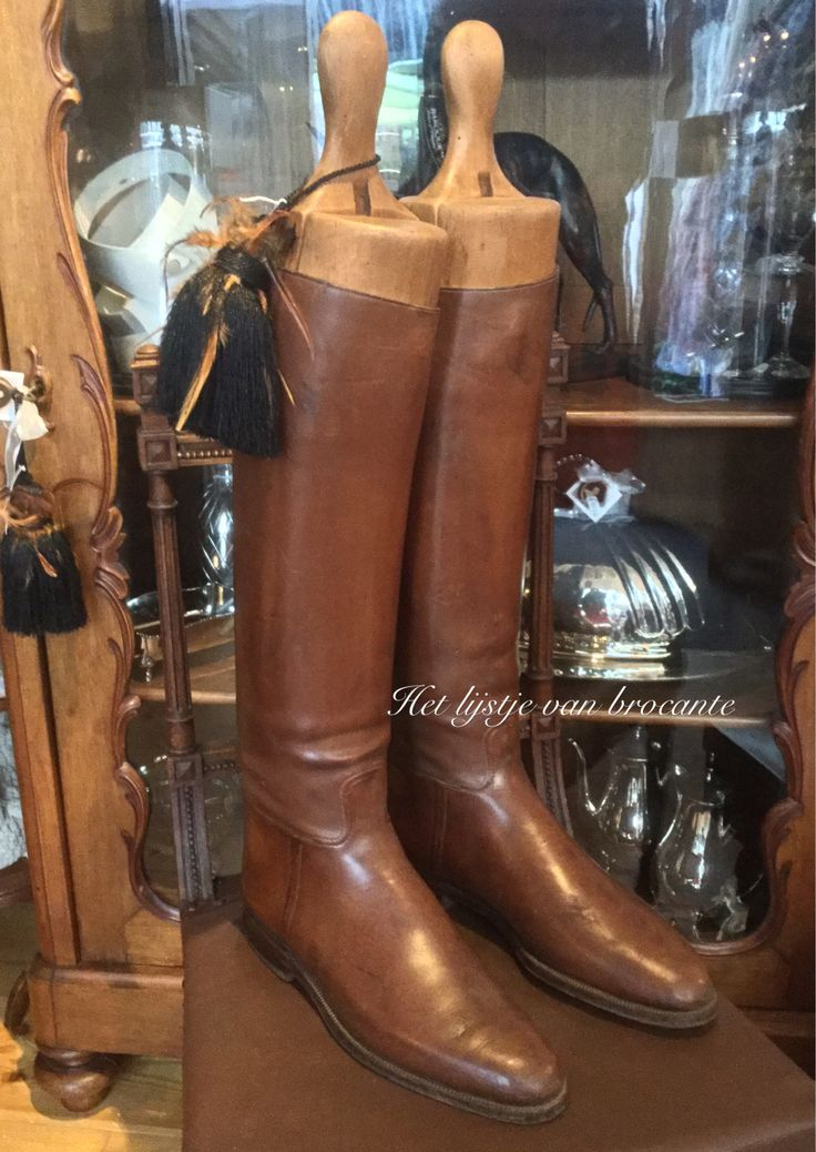 English riding boots for sale in my shop....by Silvia Hokke