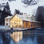 Farmhouse w/semitransparent addition