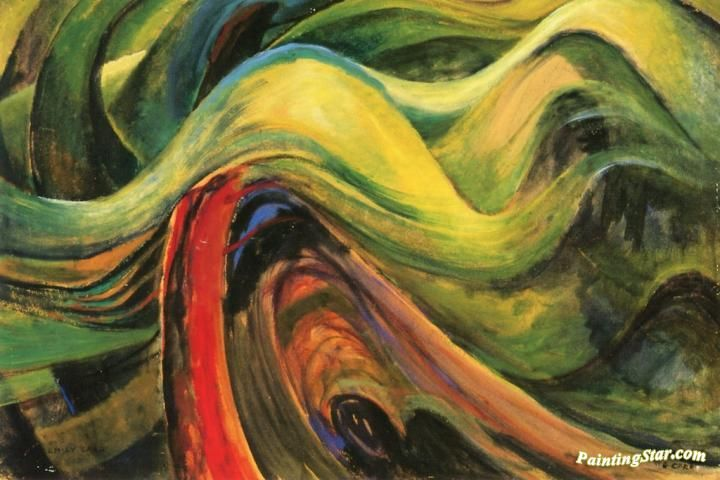 Abstract Tree Forms Artwork by Emily Carr Hand-painted and Art Prints on canvas for sale,you can custom the size and frame
