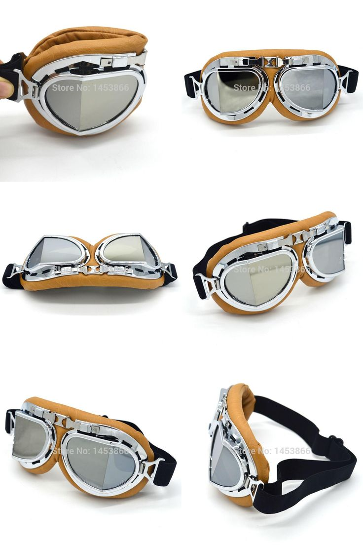 [Visit to Buy] Evomosa Silver Lens Retro Motorcycle Goggles Motocross Moto Cross Glasses Country Flexible Cycling Sport Eye Helmets #Advertisement