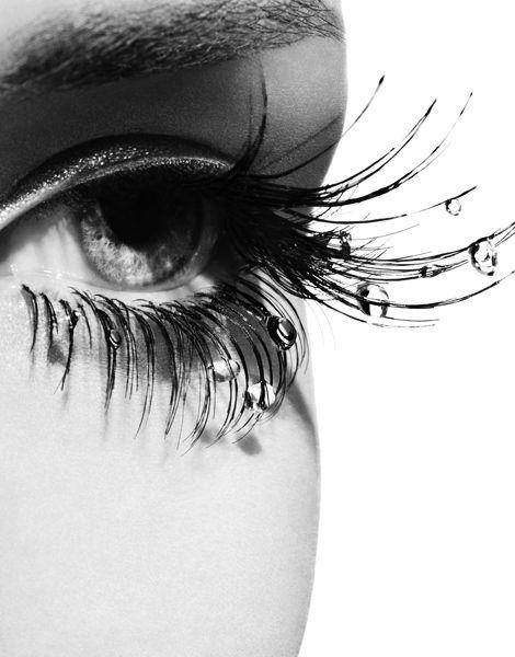 EyeEye Makeup, Waterdrop, Eyelashes, Art, Beautiful, White, Dew Drop, Water Droplets, Black