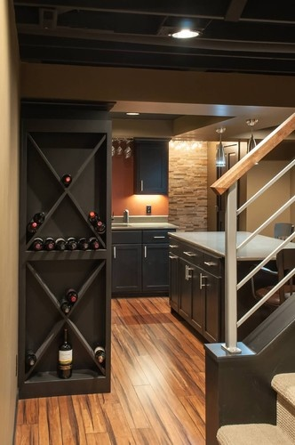 schubbe basement remodel traditional basement minneapolis deichman construction clever wine rack