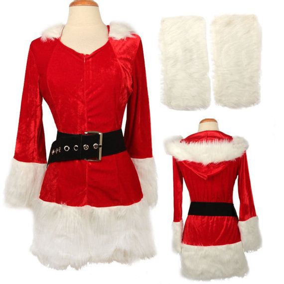 Women christmas costume adult mrs claus santa outfit by