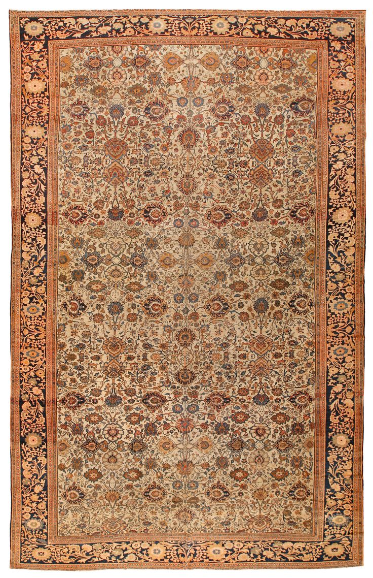 Antique Malayer Sarouk Carpet 10.8 X 16.7 - Fred Moheban Gallery