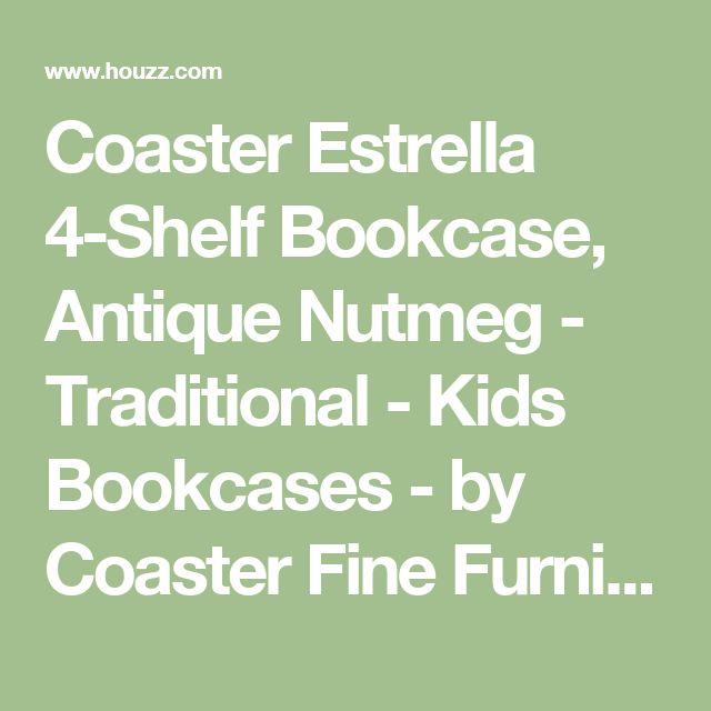 Coaster Estrella 4 Shelf Bookcase Antique Nutmeg