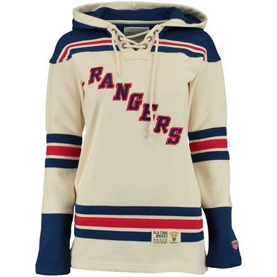 New York Rangers Old Time Hockey Women's Vintage Lacer Heavyweight Hoodie - Natural -- Size Small....SOMEONE BUY ME THIS! <3