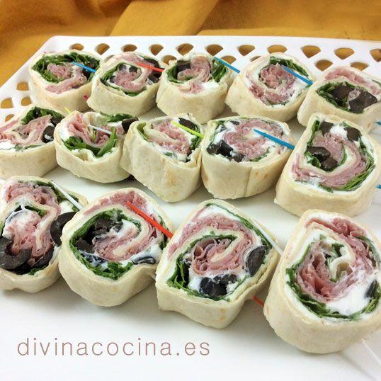 Mini wraps para aperitivos » Divina CocinaRecetas fáciles, cocina andaluza y del mundo. » Divina Cocina