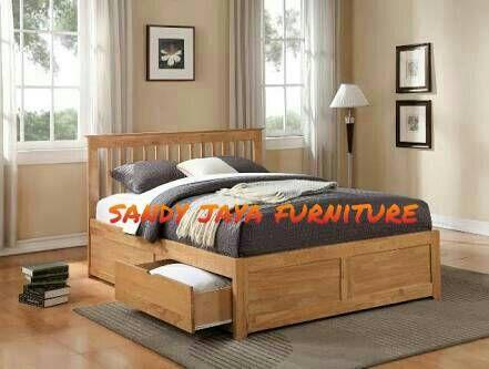 Jual tempat tidur minimalis, dipan minimalis - sandy jaya furniture | Tokopedia