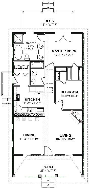 Affordable Custom House Small Home Blueprints Plans 2 Bedroom 1170 Sf Pdf 39 99 Planos De Construccion De Vivienda Construccion De Viviendas Planos De Casas Pequenas