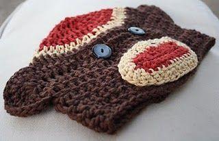 Sock Monkey Hat PatternSock Monkeys, Free Pattern, Crochet Hats Pattern, Hat Patterns, Socks Monkeys Hats, Crochet Pattern, Crochet Knits, Crafts, Crochet Socks