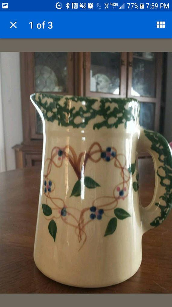 Check out this item in my Etsy shop https://www.etsy.com/listing/532259493/roseville-alpine-pitcher