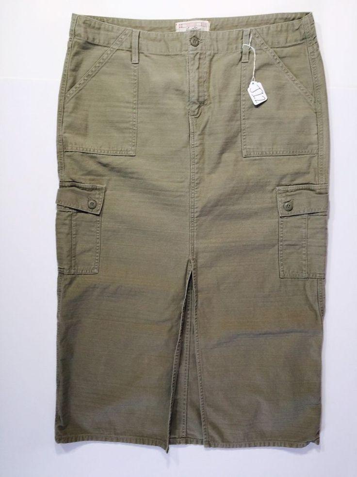 Levi Strauss Signature Misses Size 16 Taupe Long Maxi Skirt (J12) #LevisStrauss #Maxi