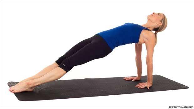 Raja Yoga Meditation Upward Plank Pose Purvottanasana