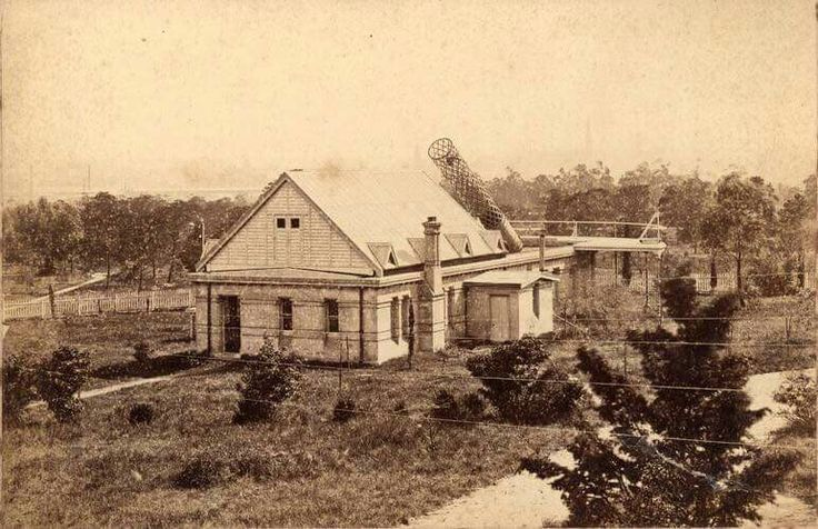 Melbourne's Observatory was located in the Domain in 1875.