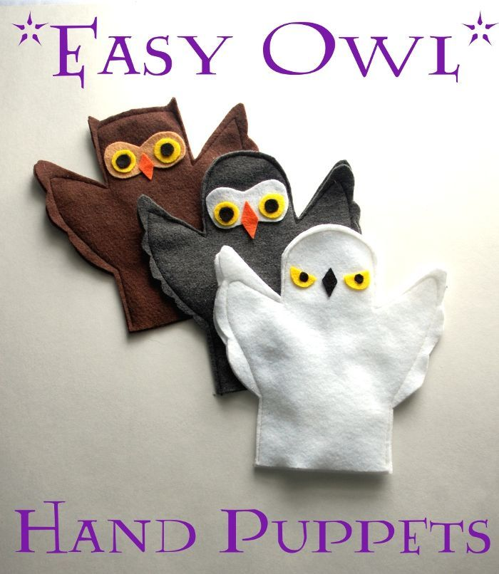 Easy Owl Hand Puppets | Imagine