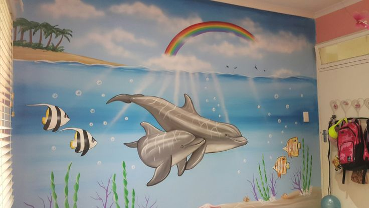 Dolphin mural by candice leth