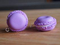 Ohrhänger Doppel Keks Macarons lila Ohrringe | Su