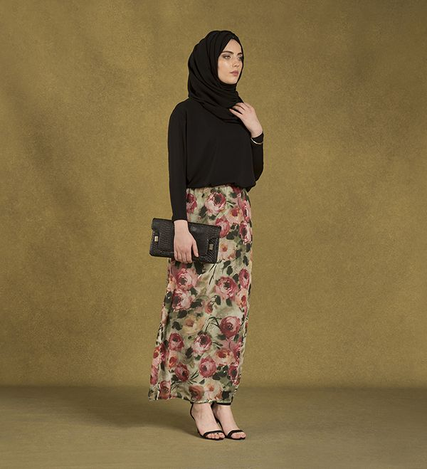 Vintage Floral Skirt - £34.99 : Inayah, Islamic Clothing & Fashion, Abayas, Jilbabs, Hijabs, Jalabiyas & Hijab Pins
