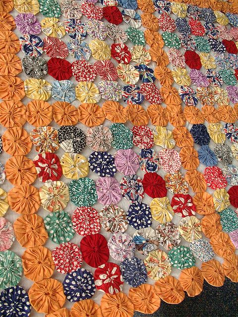 Yo-Yo quilt circa 1930??...have several made by Susie Violet!