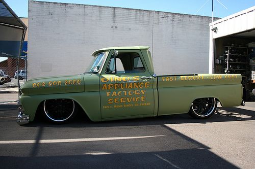 bagged 64' chevy. I built a long bed just like this...