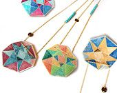Octagon Art Print Necklaces by Vicki Leigh